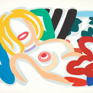 Tom Wesselmann (1931 - 2004) Big Blonde with Choker, 1992 (HC1/12) Screenprint in colors 49.50 x 69.87 in SOLD