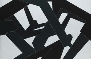Jedd Novatt (b. 1958) Kármán Line VI 2019 Unique monotype, ink on paper 71.25 x 42.63 in SOLD