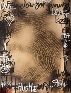 Vanquish, Brendan Murphy, Oil on Chrome Panel, 48 x 36 inches