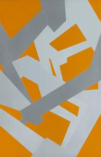 Jedd Novatt (b. 1958) Kármán Line VIII 2019 Unique monotype, ink on paper 71.25 x 42.63 in SOLD