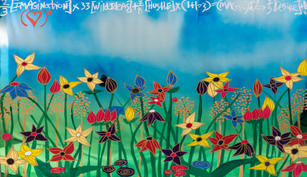 Love More, Brendan Murphy, Oil on Chrome,  36 x 48 inch