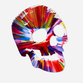 Damien Hirst (b. 1965) Skull Spin Painting, 2009 Acrylic on paper 28 x 20 in Contact For Price