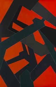 Jedd Novatt (b. 1958) Kármán Line X 2019 Unique monotype, ink on paper 71.25 x 42.63 in SOLD