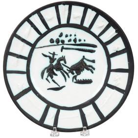 Pablo Picasso (1881 - 1973) Picador (104/200), 1953 Partially glazed ceramic plate 8.75 Contact for Price
