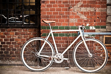 a parked bicycle