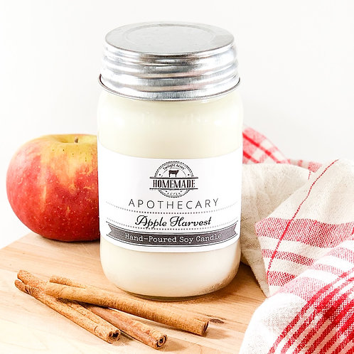 16 oz Apple Harvest Hand-Poured Soy Candle