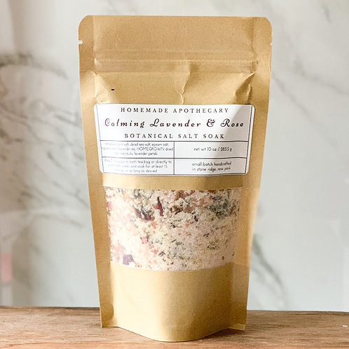 Calming Lavender & Rose Botanical Soak Refill