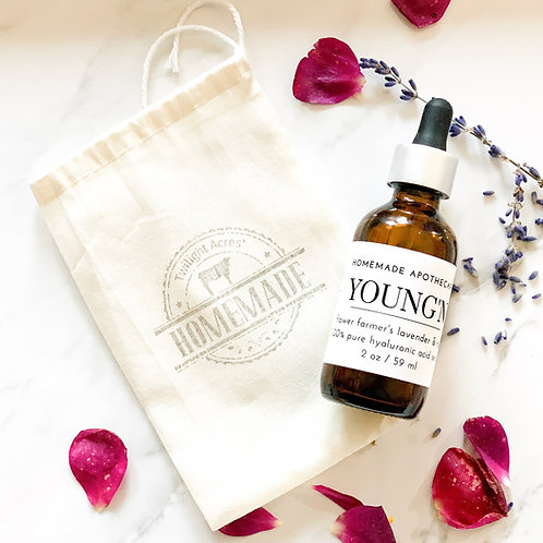 YOUNG'N Flower Farmer's Rose & Lavender Hyaluronic Acid Serum