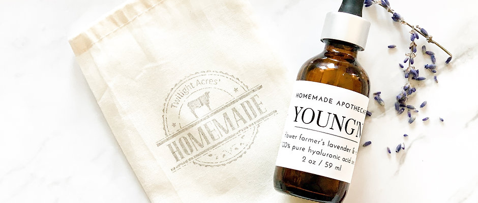 YOUNG'N Flower Farmer's Rose & Lavender Hyaluronic Acid Serum