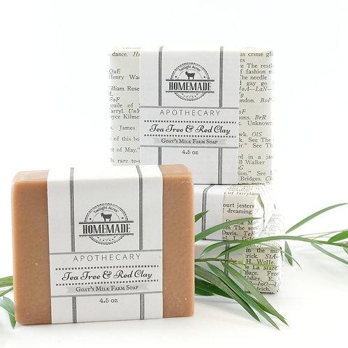 Tea Tree & Red Clay Goat's Milk Soap