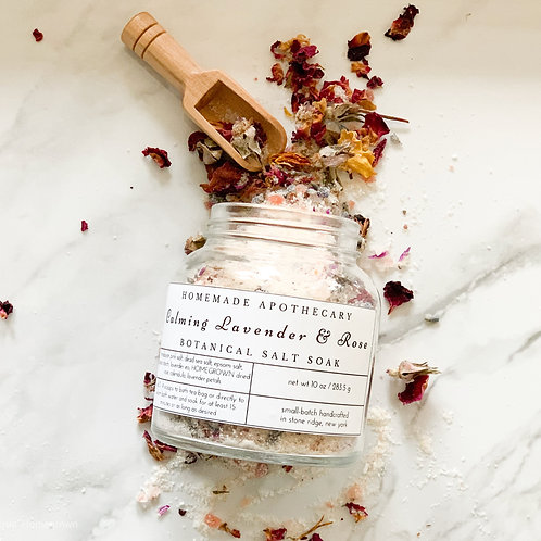 Calming Lavender & Rose Botanical Salt Soak