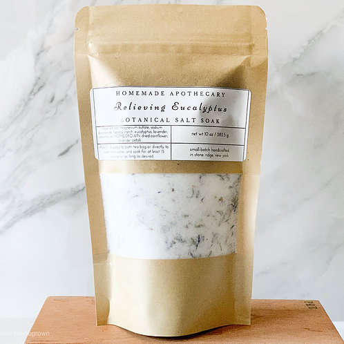 Relieving Eucalyptus Botanical Salt Soak Refill