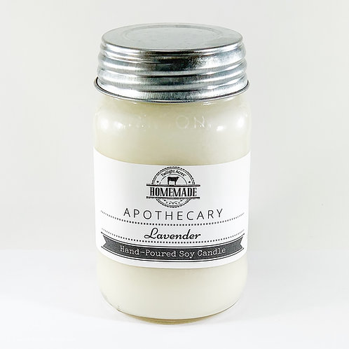16 oz Hand-Poured Soy Candle Choose Your Scent