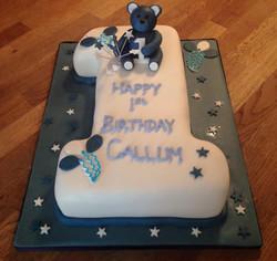 Number 1 Birthday Boys Cake