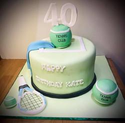Tennis Themed Birthday Cake