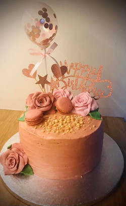 Rose Gold birthday cake