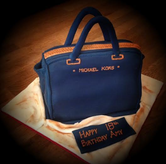 MK Designer handbag cake