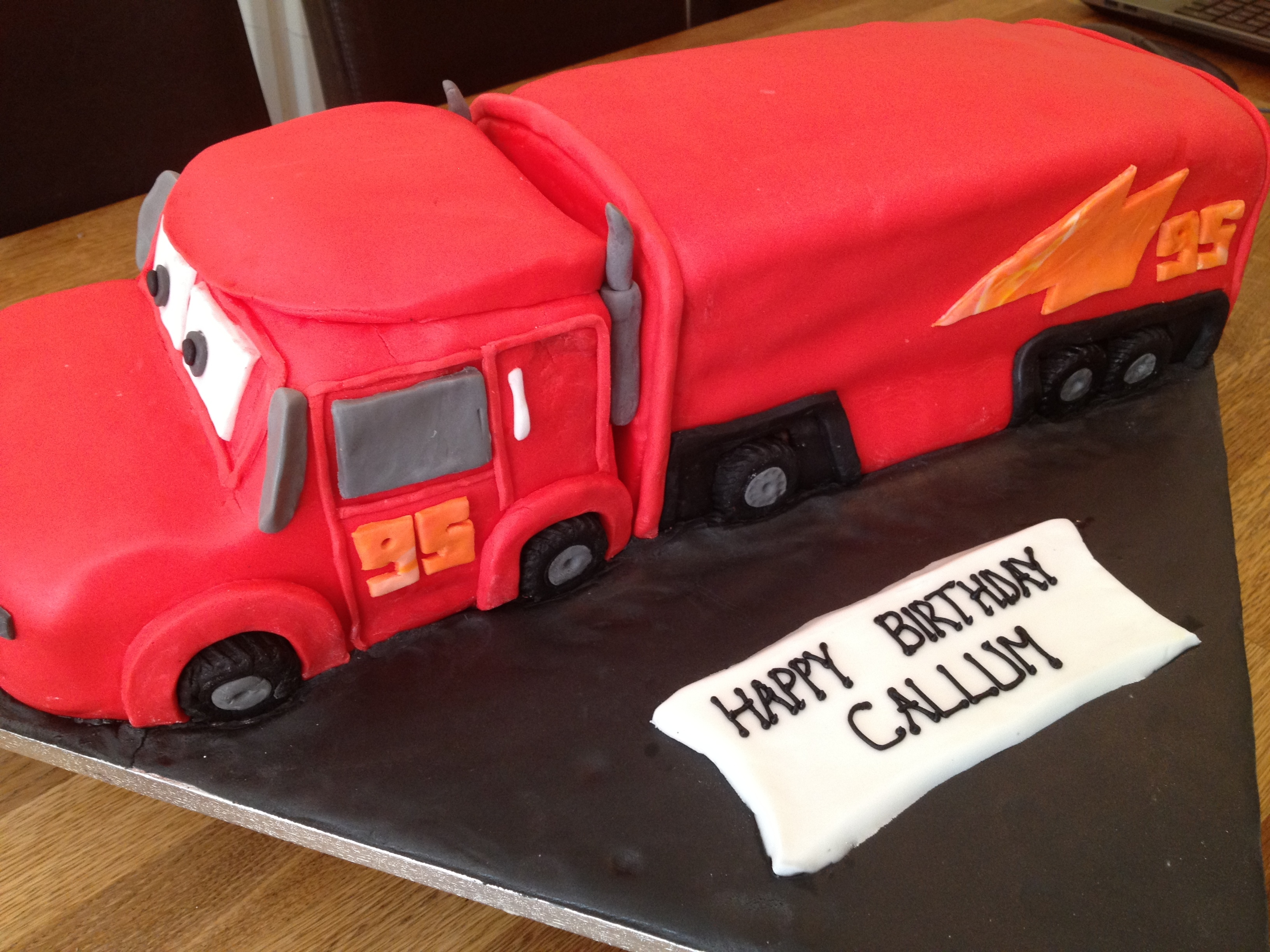 Cars Truck birthday cake