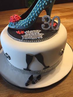 Chocolate Shoe Birthday Cake