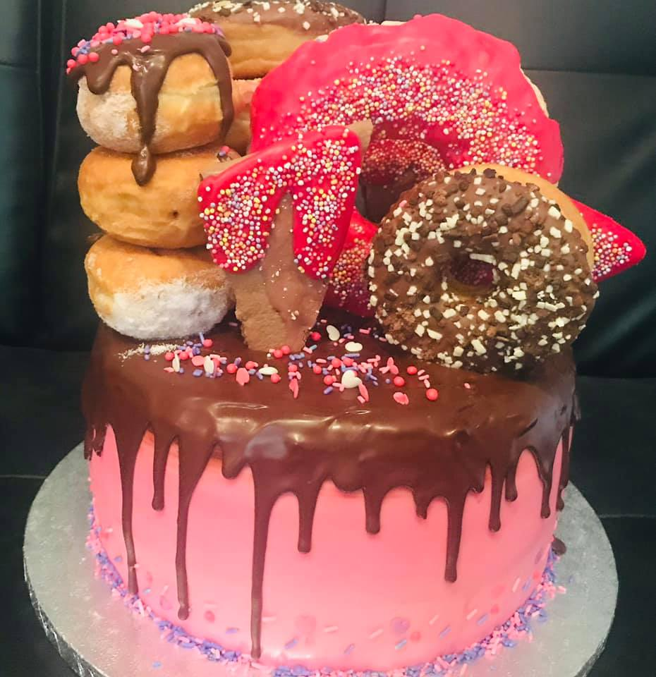 Doughnut Birthday Cake