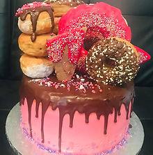 Doughnut Birthday Cake