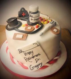 Doctors retirement cake