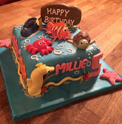 Nemo  themed birthday cake