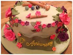 Anniversary Croquet Cake