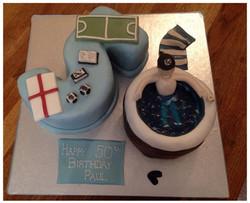 50th Number Birthday Cake
