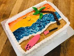 Beech themed birthday cake