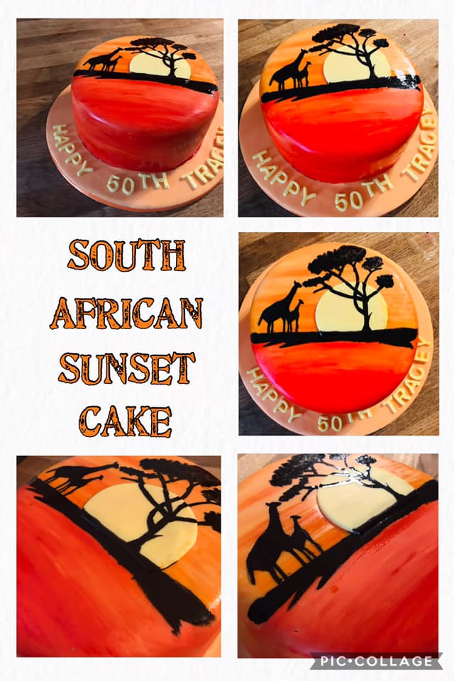 South African Sunset Cake