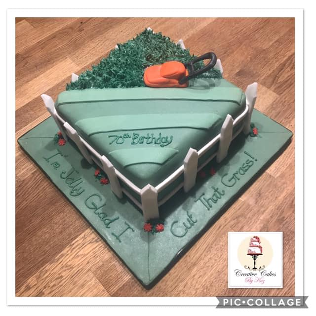 Lawn Mower Birthday Cake