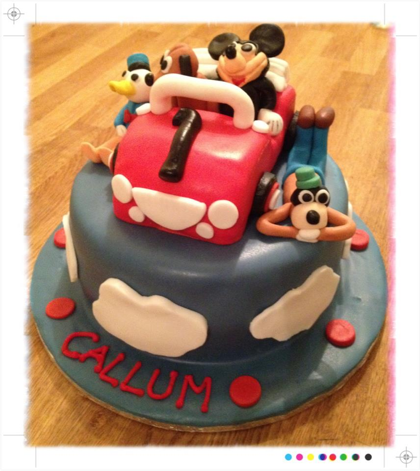 Disney characters birthday cake