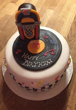 Juke Box themed cake