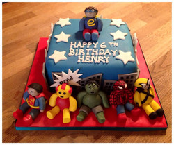 Superheroes themed Birthday Cake