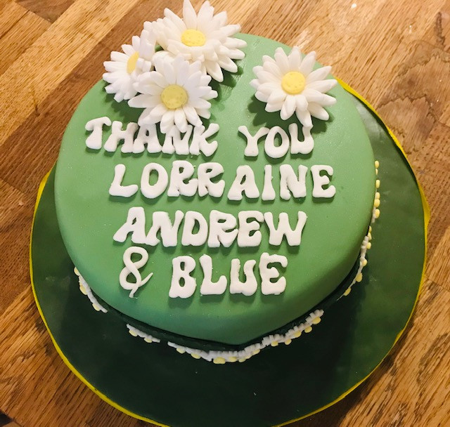 Thank you cake for Purbeck Mobility