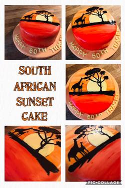 South African Sunset Birthday Caele