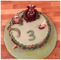 Gruffalo themed birthday cake
