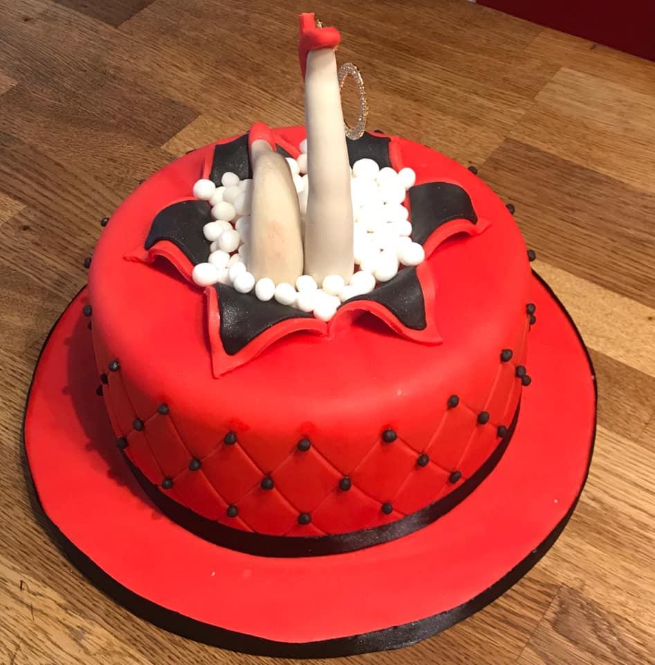 Legs! Birthday Cake