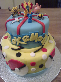 2 tire Pokemon birthday cake