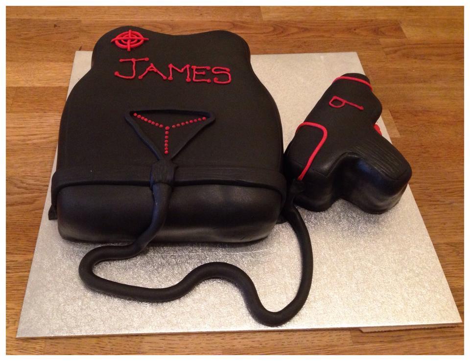 Laser Gun Birthday Cake