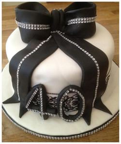40th  diamante birthday cake