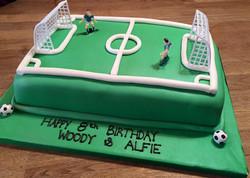 Fottball Pitch Birthday Cake