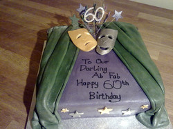 Theater styled birthday cake