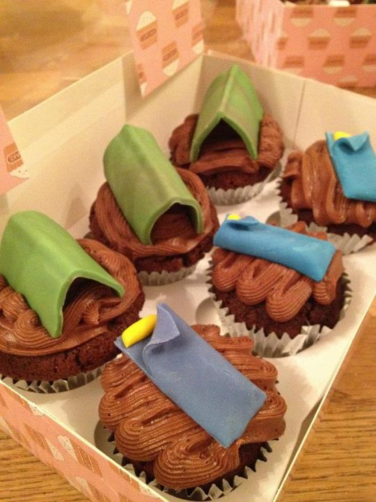 Camp themed Cupcakes