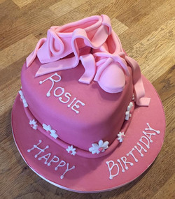 Ballet Shoes Birthday Cake