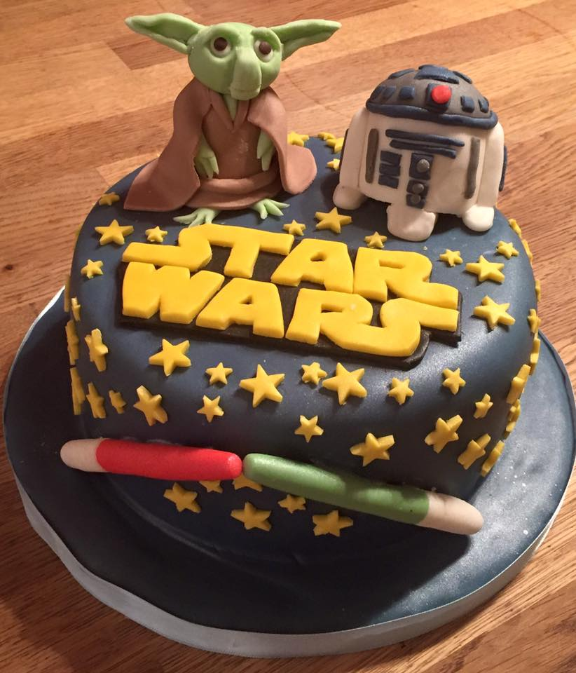 Star Wars themed bBirthday Cake