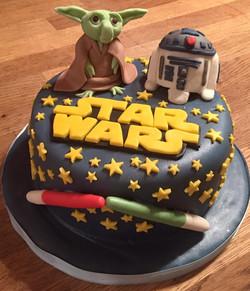 Star Wars themed bBirthday Cake