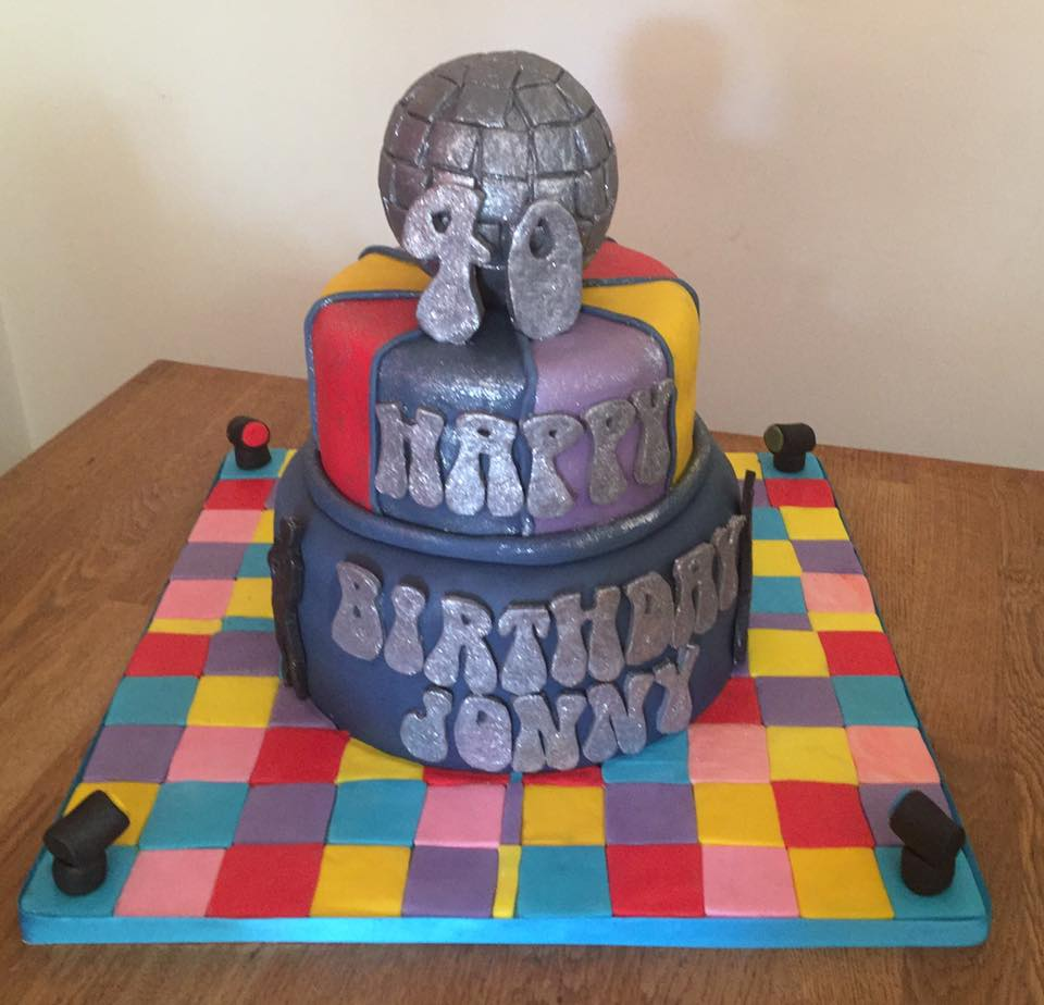 40th Disco Birthday Cake
