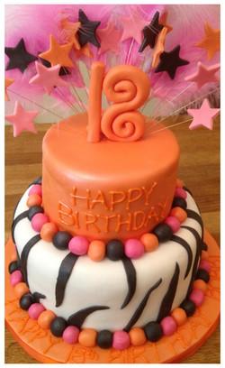 2 Tier 18th Birthday Cake